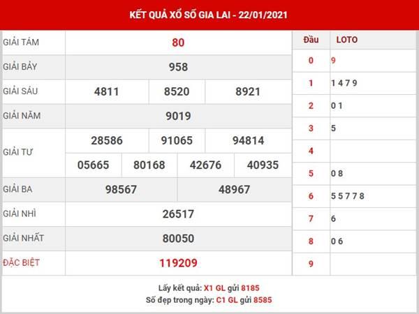 Soi cầu số đẹp XSGL thứ 6 ngày 29/1/2021