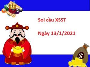 Soi cầu XSST 13/1/2021