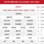 KQXSMB ngày 20/1/2021 – Soi cầu thống kê SXMB hôm nay thứ 4