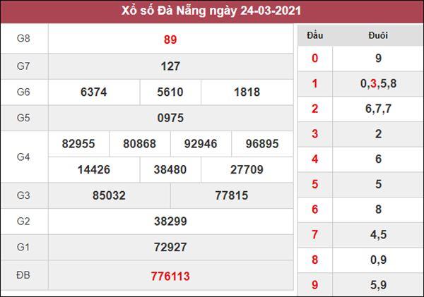 Soi cầu KQXS Đà Nẵng 27/3/2021 thứ 7 xác suất trúng cao nhất