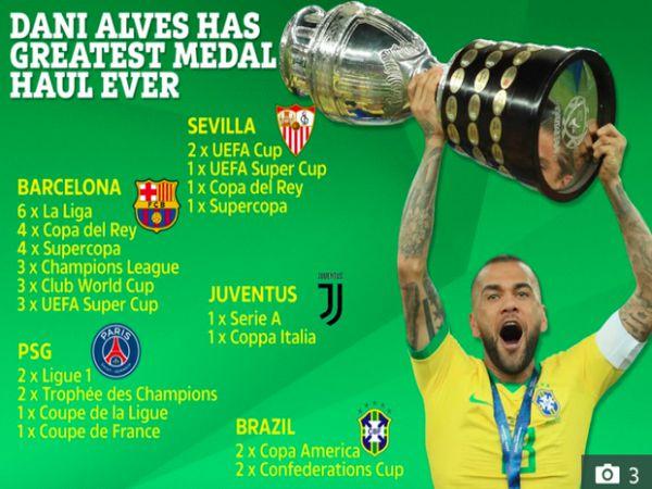 Top 5 siêu sao bóng đá có nhiều danh hiệu nhất thế giới
